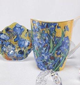 CARMANI - elegante Porzellanserien in Limited Edition. Van Gogh - Schwertlilien - Kaffeetasse Vanessa