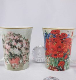 CARMANI - elegante Porzellanserien in Limited Edition. Van Gogh - Daisies and Poppies  -  Coffee mugs set