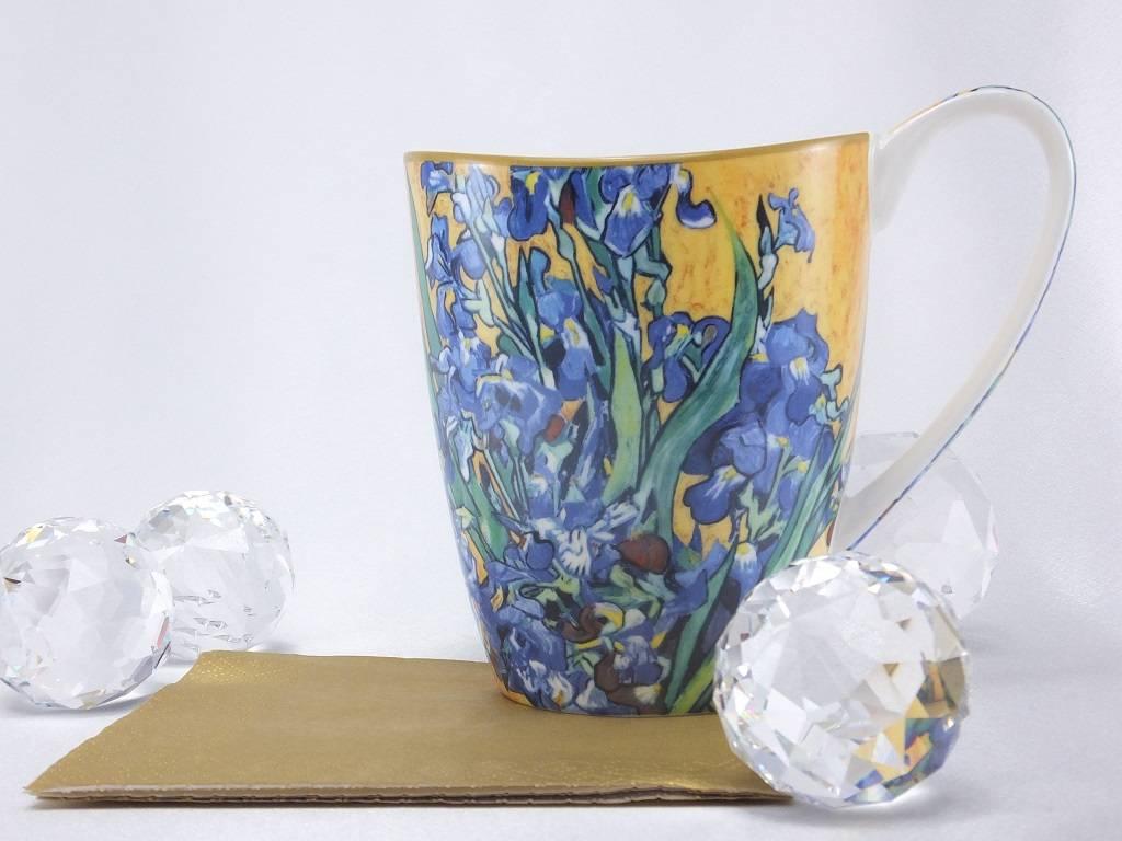 CARMANI - elegante Porzellanserien in Limited Edition. Vincent van Gogh - Schwertlilien - Kaffeetasse Vanessa in Geschenkbox