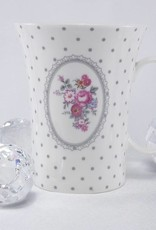 Dallas -stylish porcelain coffee cup white