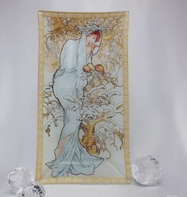CARMANI - elegante Porzellanserien in Limited Edition. Alfons Mucha - Glass Plate - Winter