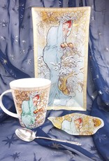 CARMANI - elegante Porzellanserien in Limited Edition. Alfons Mucha - Glasteller - The Four Seasons -Winter