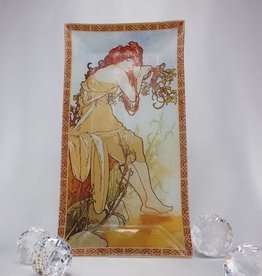 CARMANI - elegante Porzellanserien in Limited Edition. Alfons Mucha - Glass Plate - Summer