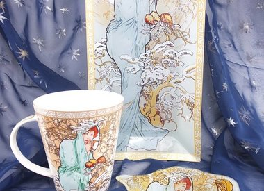 Alfons Mucha - glass plate