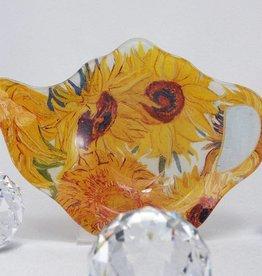 CARMANI - elegante Porzellanserien in Limited Edition. Van Gogh - Teabag - Sonnenblumen