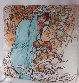 CARMANI - elegante Porzellanserien in Limited Edition. Alfons Mucha - Kissen - Winter