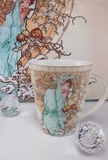 CARMANI - elegante Porzellanserien in Limited Edition. Alfons Mucha - Decorative Cushion - The Four Seasons - Winter