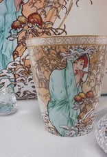 CARMANI - elegante Porzellanserien in Limited Edition. Alfons Mucha - Dekorationskissen - The Four Seasons - Winter