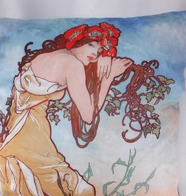 CARMANI - 1990 Alfons Mucha - Pillow - Summer