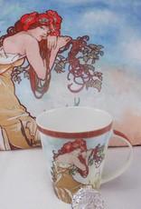 CARMANI - elegante Porzellanserien in Limited Edition. Alfons Mucha - Dekorationskissen - The Four Seasons - Sommer