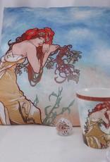 CARMANI - elegante Porzellanserien in Limited Edition. Alfons Mucha -decorations pillow - The Four Seasons - Summer