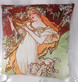 CARMANI - elegante Porzellanserien in Limited Edition. Alfons Mucha - Pillow - Spring