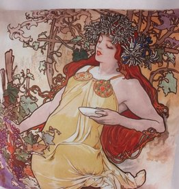 CARMANI - elegante Porzellanserien in Limited Edition. Alfons Mucha - Kissen - Herbst