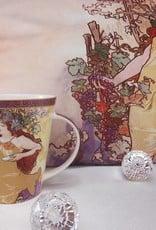 CARMANI - elegante Porzellanserien in Limited Edition. Alfons Mucha - Decorative Cushion - The Four Seasons - Autumn