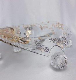 CARMANI - elegante Porzellanserien in Limited Edition. Gustav Klimt - Der Kuss - Glasschale