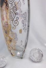 CARMANI - elegante Porzellanserien in Limited Edition. Gustav Klimt - Der Kuss - Dekorationsvase / Glasvase  III