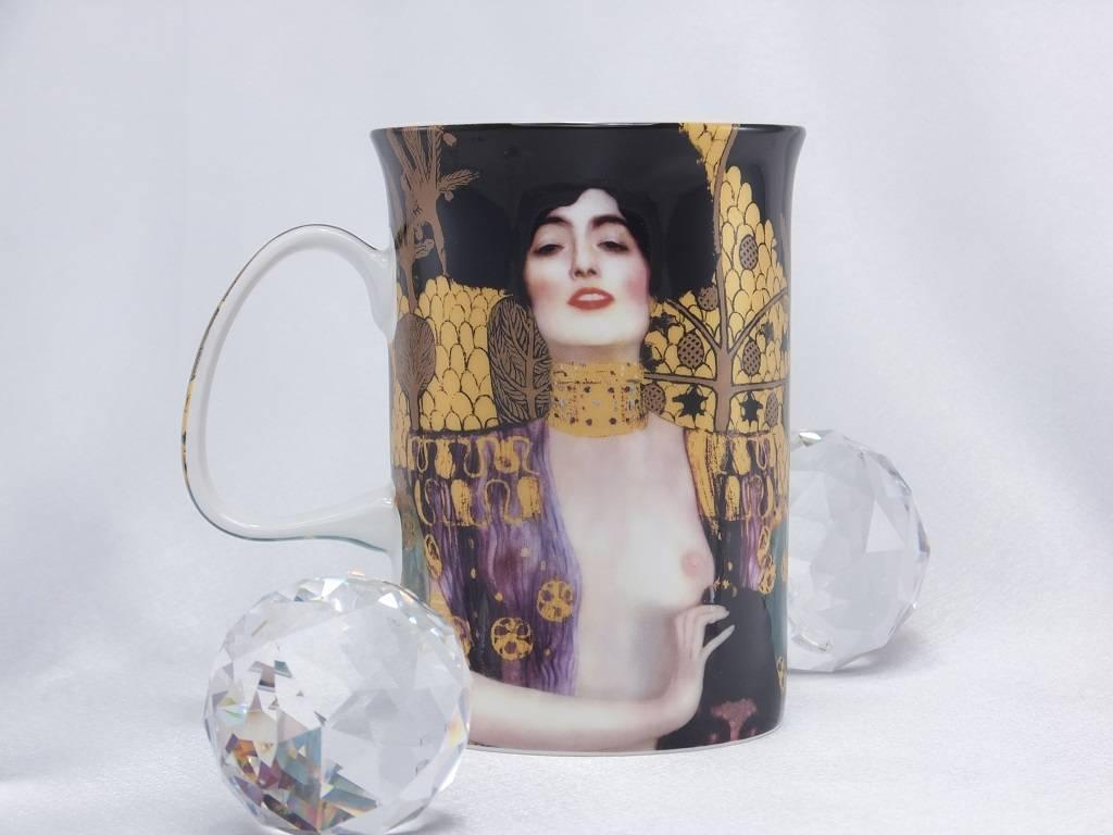 DELUXE by MJS Gustav Klimt - Judith- Kaffeetasse & Korkuntersetzer