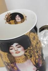 DELUXE by MJS Gustav Klimt - Judith - Porcelain coffee mug  & coaster