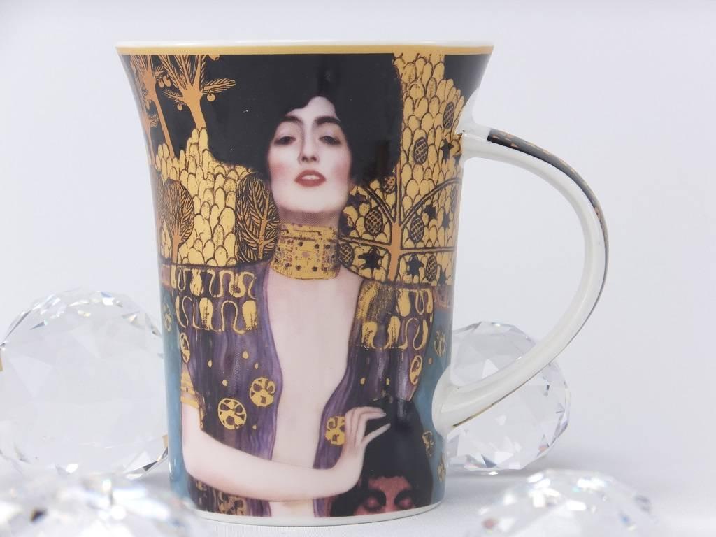 CARMANI - elegante Porzellanserien in Limited Edition. Gustav Klimt - Judith I - Coffee cup in gift box