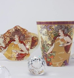 CARMANI - 1990 Alfons Mucha  - Kaffeetasse - The Four Seasons Herbst