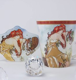 CARMANI - 1990 Alfons Mucha  - Kaffeetasse  - The Four Seasons - Sommer