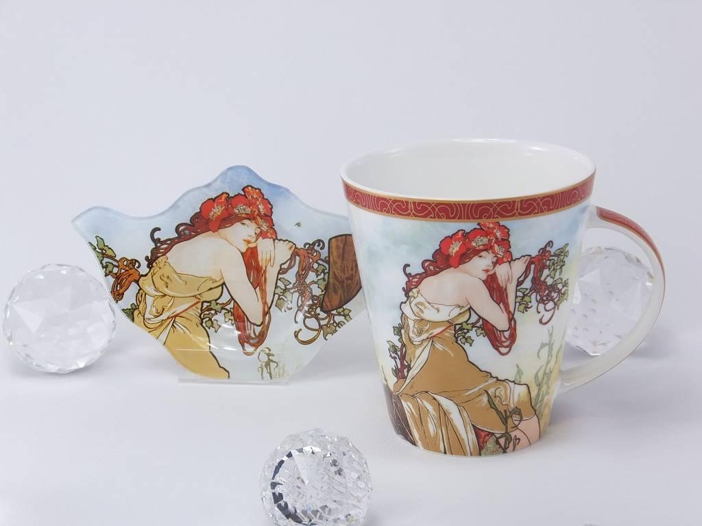 CARMANI - elegante Porzellanserien in Limited Edition. Alfons Mucha - The Four Seasons - Summer - coffee mug set