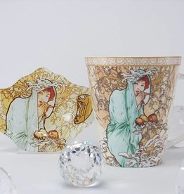 CARMANI - 1990 Alfons Mucha  - Kaffeetasse -  The Four Seasons -Winter