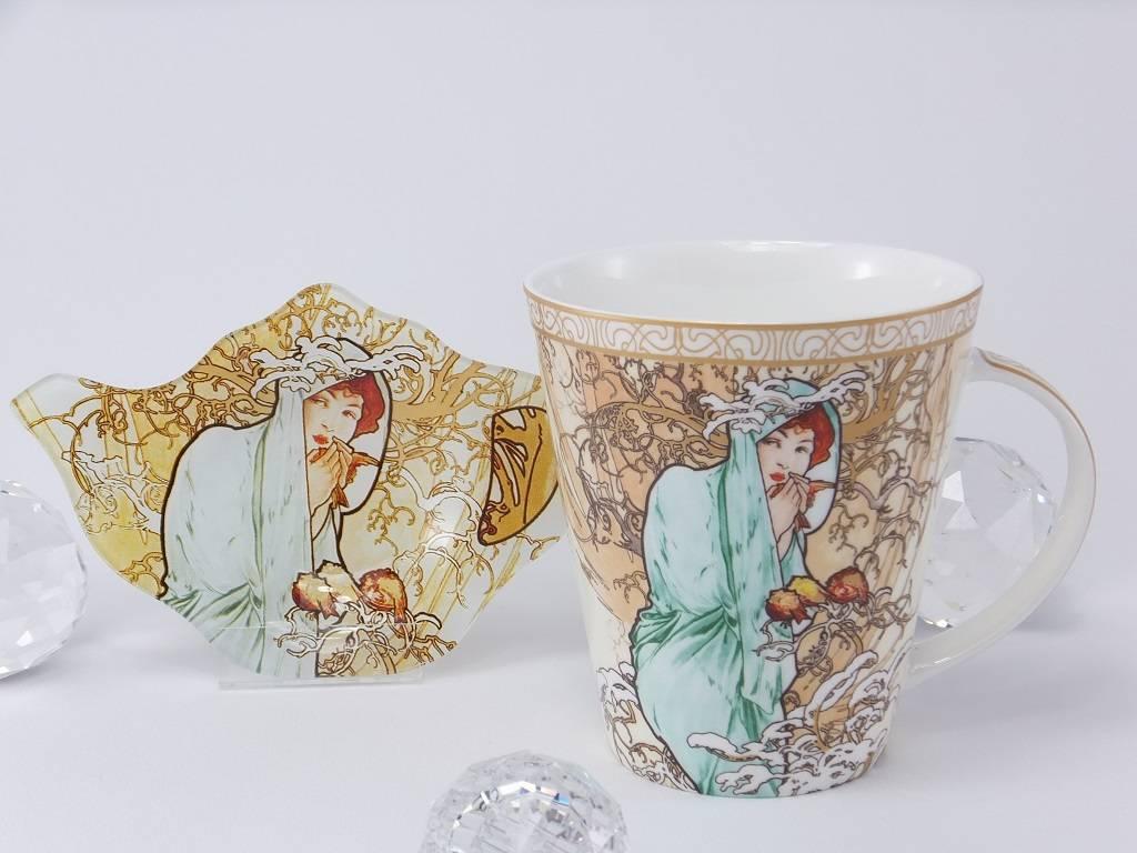 CARMANI - 1990 Alfons Mucha - The Fours Seasons - Winter - coffee mug set