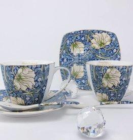 Queen Isabell -1991 The Morris - Cappuccino Tassen in Blau