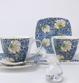Queen Isabell The Morris - Cappuccino cups in Blue