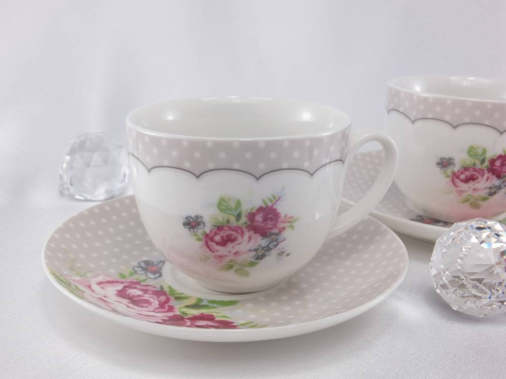 Dallas - stillvolles Kaffeetassen Set aus Porzellan