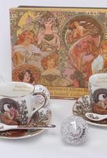 Queen Isabell Alfons Mucha - Precious Stones in Weiß  - Espressotassen