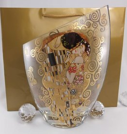 CARMANI - elegante Porzellanserien in Limited Edition. Gustav Klimt - Der Kuss - Vase III