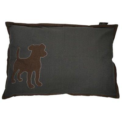 Lex & Max Hondenkussen Dog Antraciet
