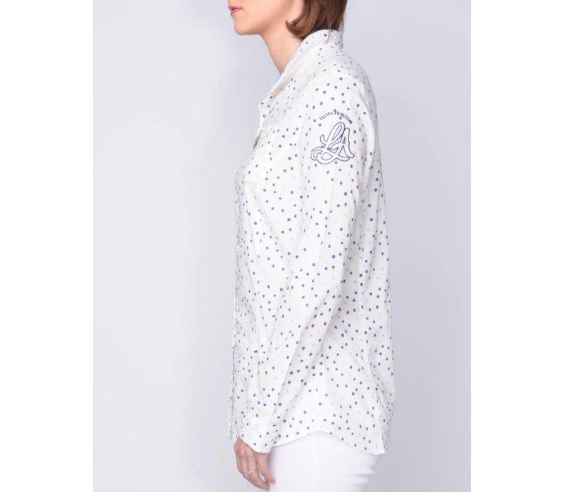 blouse MADENA white-royalblue