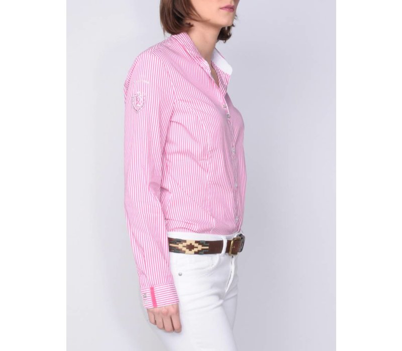 blouse MADINA brightpink-white