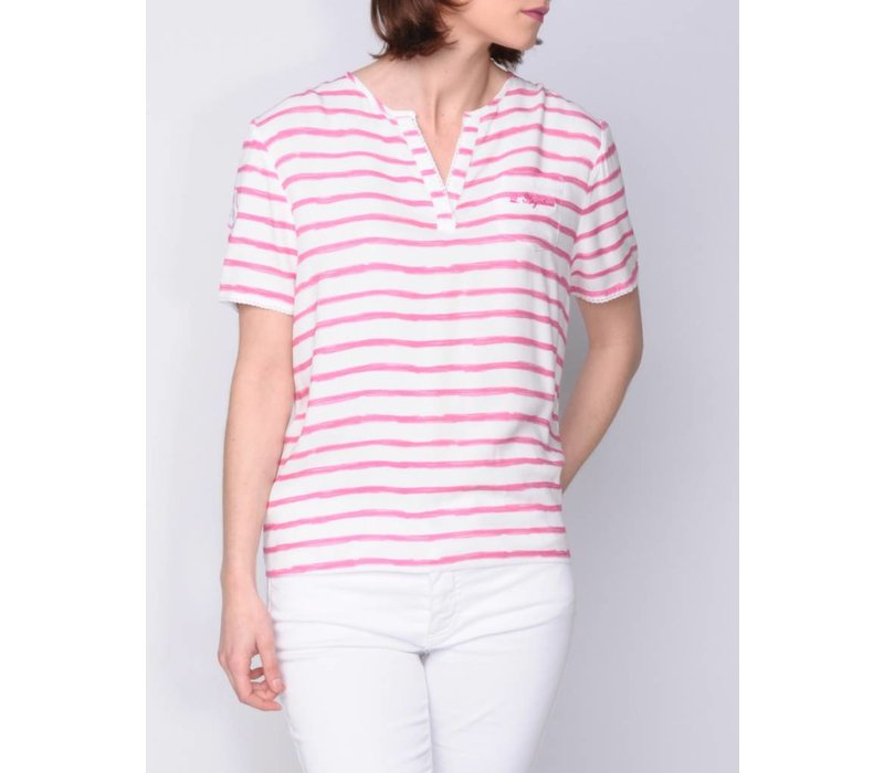 blouse MARICELA brightpink-white