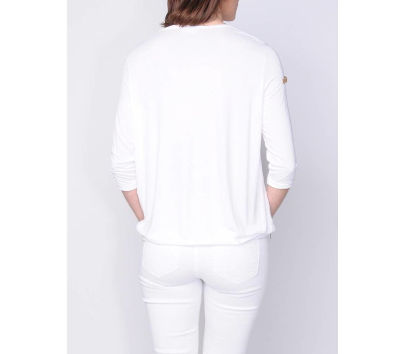 t-shirt SAVANA white
