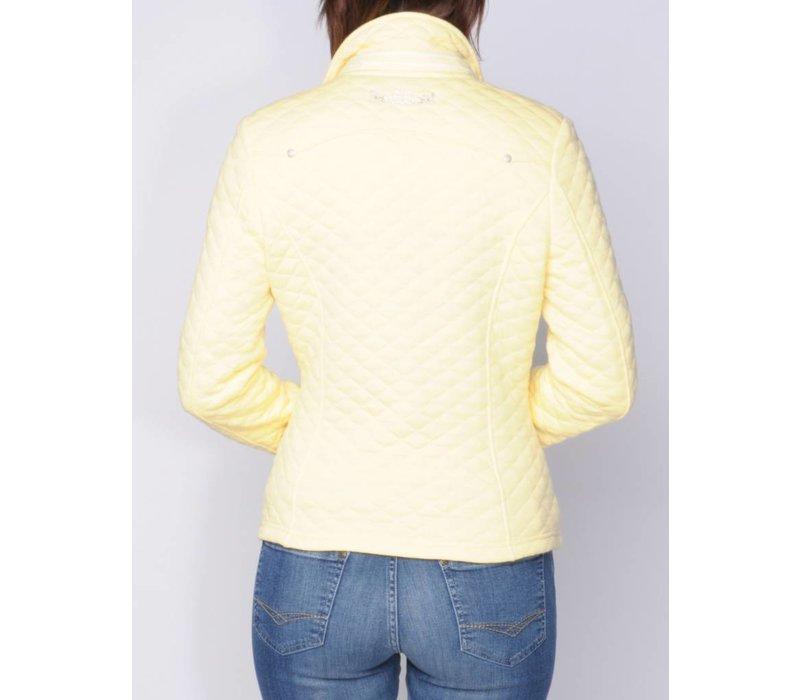 blazer LEOCADIA banaangeel-wit