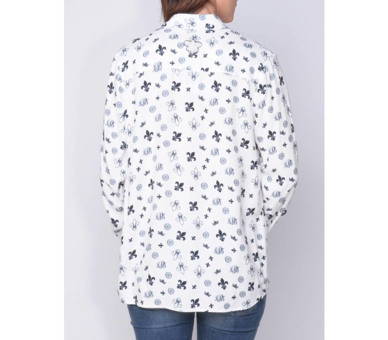 blouse MANDELLA white-m.navy
