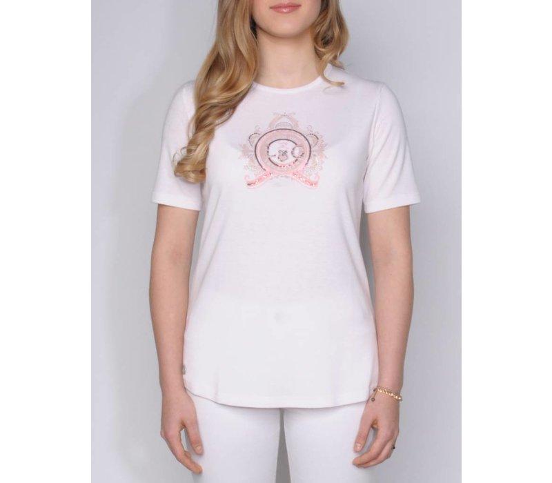 t-shirt SARELLA white-blusch