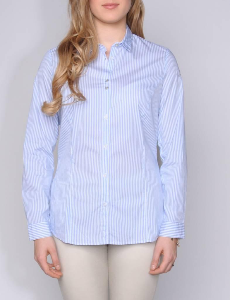 L'Argentina blouse MADINA l.blue-white