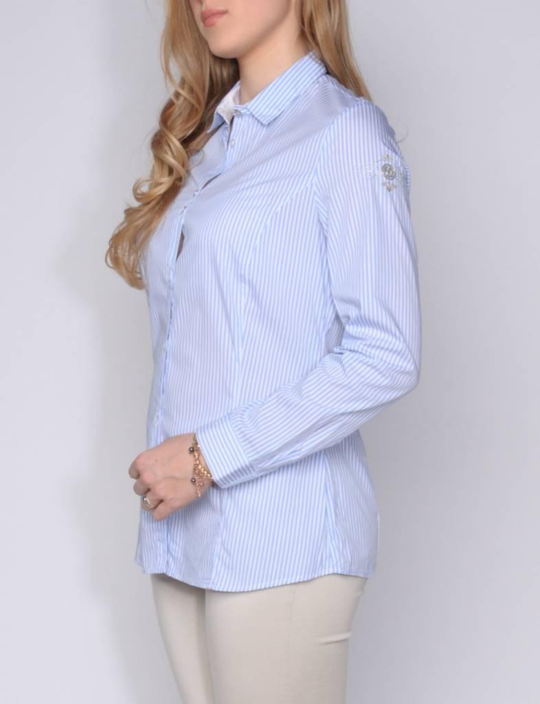L'Argentina blouse MADINA light blue white