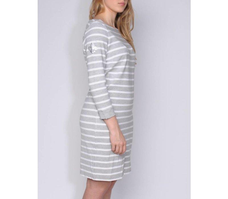 dress MARIPOSA silvergrey-white