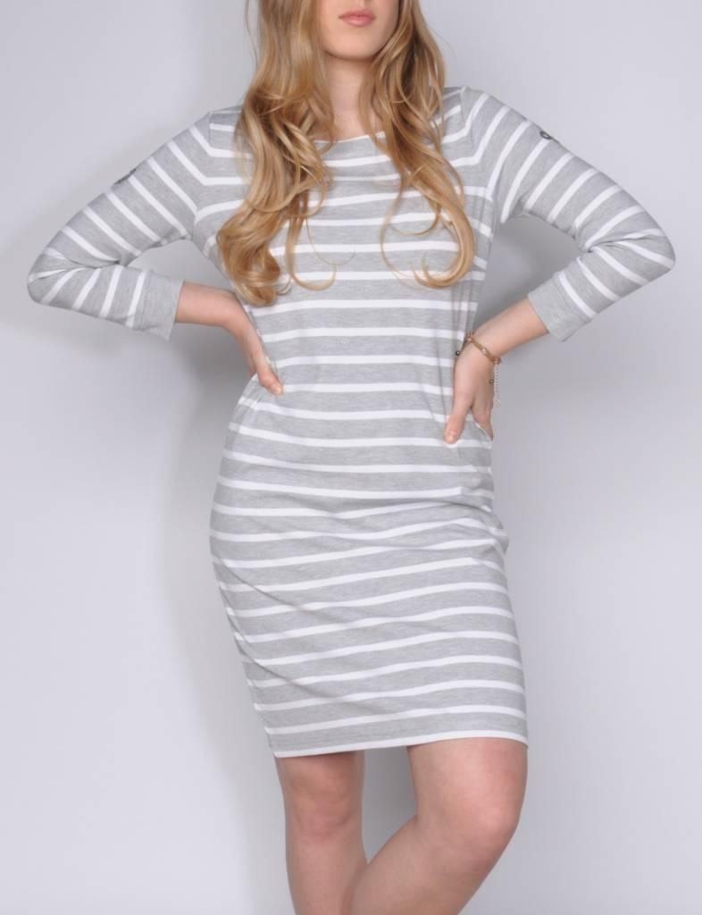 L'Argentina dress MARIPOSA silvergrey-white