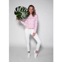 blouse MANUELA white-brightpink