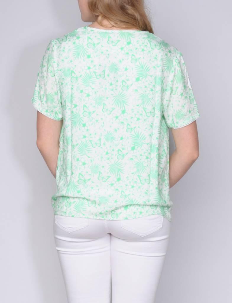 L'Argentina blouse MARICELA white-lawn