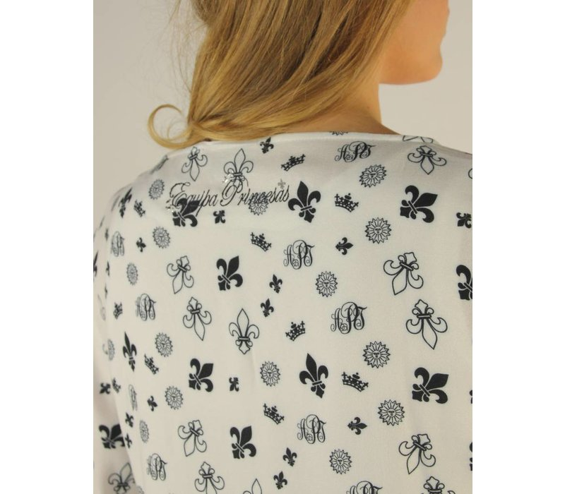 blouse MANUELA white-m.navy