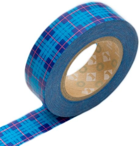 MT masking tape tartan checked blue