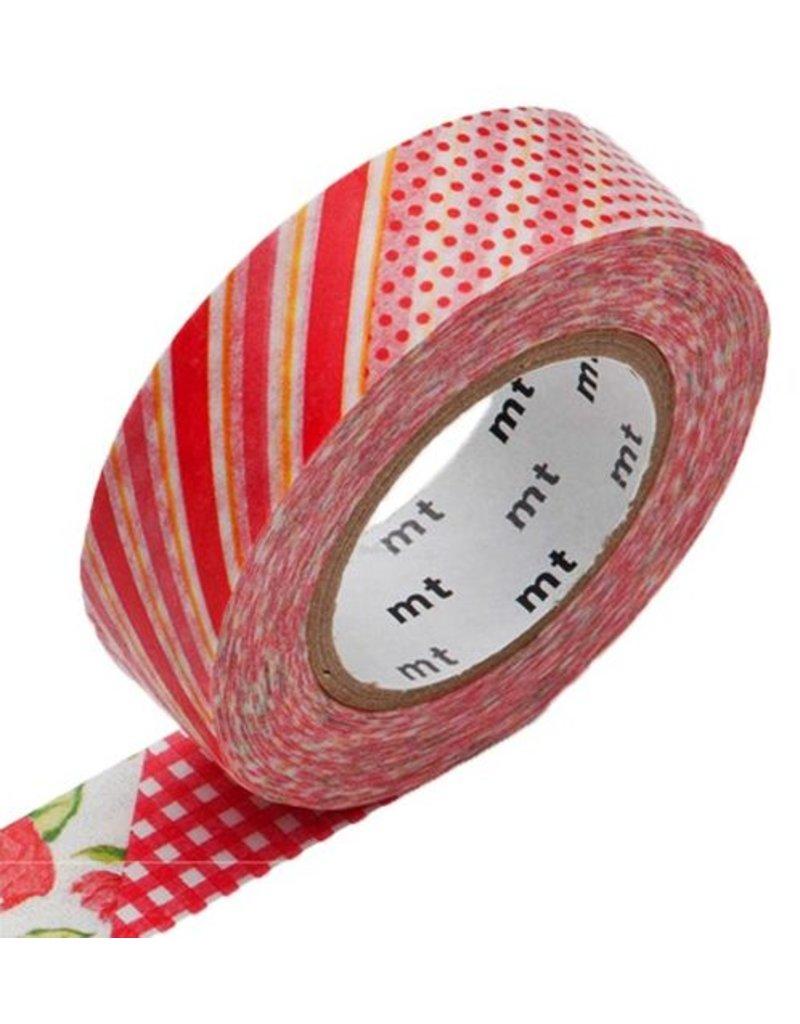 MT masking tape ex flower red